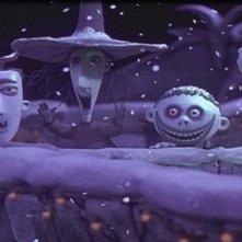 Una scena del film Nightmare Before Christmas (1993)