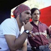 Alejandro González Iñárritu e Gael Garcia Bernal sul set di Babel