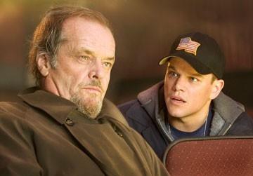 Jack Nicholson e Matt Damon in una scena di The Departed