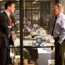 Matt Damon e Martin Sheen in una scena di The Departed