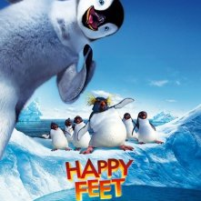 La locandina italiana di Happy Feet