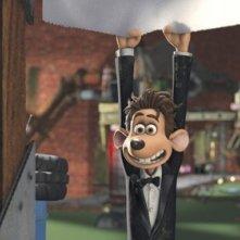 Una scena del film Giù per il tubo, diretto da David Bowers e Sam Fell