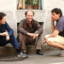 Ale e Franz con il regista Massimo Venier sul set del film Mi fido di te