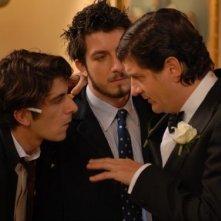 Francesco Mandelli, Paolo Ruffini e Fabio De Luigi in una scena del film Natale a New York