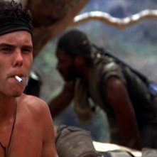 Kevin Dillon in una sequenza di Platoon