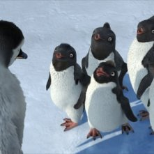 Una scena del film Happy Feet, realizzato nel 2006