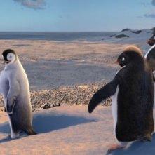 Una scena del film Happy Feet, del 2006