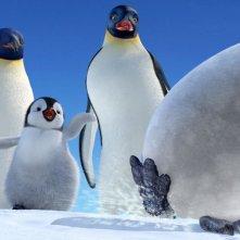 Una divertente scena del film Happy Feet