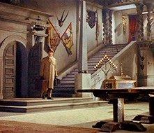John Van Eyssen in una scena del film Dracula il vampiro