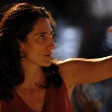 Federica Martino sul set del film L'ultima battuta