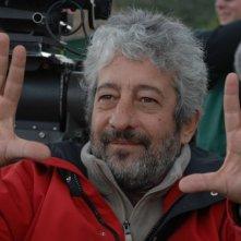 Gianfranco Cabiddu sul set del film TV Disegno di sangue