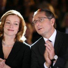 Stefania Rocca e Paolo Bonolis in una scena di Commediasexi, regia di Alessandro D'Alatri