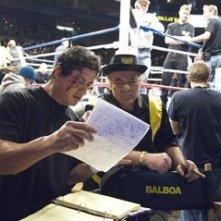 Sylvester Stallone e Burt Young sul set di Rocky Balboa