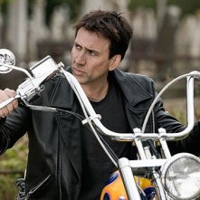 Nicolas Cage in una sequenza di Ghost Rider