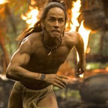 Rudy Youngblood in una scena del film Apocalypto