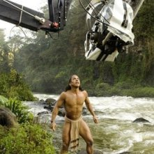 Rudy Youngblood sul set del film Apocalypto