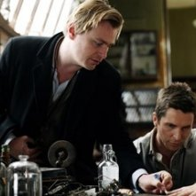 Christopher Nolan e Christian Bale sul set di 'The Prestige'
