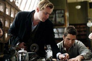 Christopher Nolan e Christian Bale sul set di 'The Prestige'