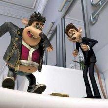 Una scena del film Giù per il tubo (Flushed Away, 2006)