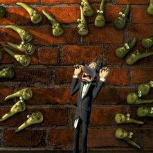 Una scena del film d'animazione Giù per il tubo
