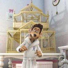 Una scena del film d'animazione Giù per il tubo (Flushed Away, del 2006)