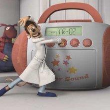 Una scena del film d'animazione Giù per il tubo diretto da David Bowers e Sam Fell