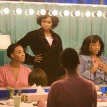 Beyoncé Knowles, Jennifer Hudson e Anika Noni Rose in una scena di Dreamgirls