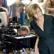 Nancy Meyers sul set del film L'amore non va in vacanza