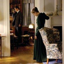 Matt Damon insieme ad Angelina Jolie in una scena del film The Good Shepherd