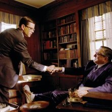 Matt Damon e Robert De Niro in una scena del film The Good Shepherd