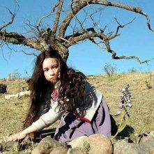 Jodelle Ferland in una scena di Tideland