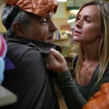 Serena Autieri affronta Giorgio Panariello in una scena del film Notte prima degli esami - Oggi