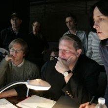 Al Gore, Brian Buell e Lesley Chilcott in una scena del documentario Una scomoda verità