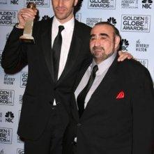 Ken Davitian e Sacha Baron Cohen, premiato per Borat insieme ai Golden Globes 2007