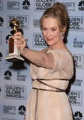 Meryl Streep premiata per Il diavolo veste Prada ai Golden Globes 2007