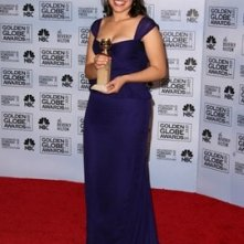 America Ferrera premiata per Ugly Betty ai Golden Globes 2007