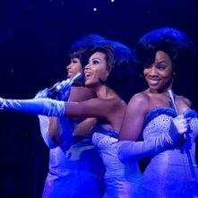 Le Dreamettes, ovvero Beyoncé Knowles, Anika Noni Rose e Jennifer Hudson in una scena di Dreamgirls