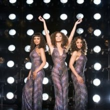 Beyoncé Knowles, Anika Noni Rose e Sharon Leal in una scena di Dreamgirls