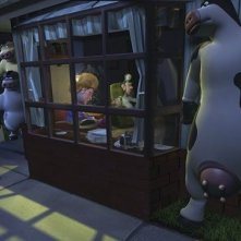 Una scena del film Barnyard - Il cortile