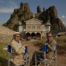 Paolo e Vittorio Taviani sul set del film La masseria delle allodole