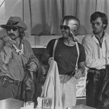 Dennis Hopper, Jack Nicholson e Peter Fonda in una scena di Easy Rider