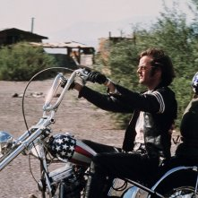 Peter Fonda in una scena di Easy Rider