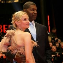 Diane Kruger e Dennis Haysbert a Berlino 2007 per presentare il film Goodbye Bafana