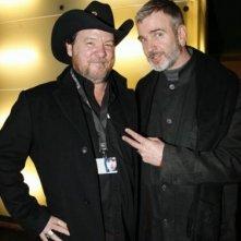 Il regista Bruce McDonald a Berlino 2007 per presentare il suo The Tracey Fragments insieme al direttore della sezione Panorama.