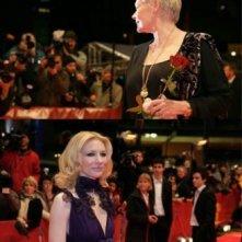 Judi Dench e Cate Blanchett alla Berlinale 2007 per presentare il film Diario di uno scandalo