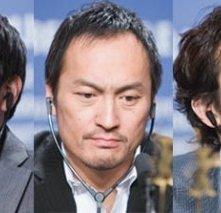 Ninomiya Kazunari, Ken Watanabe e Ihara Tsuyoshi alla Berlinale 2007 per presentare il film Lettere da Iwo Jima
