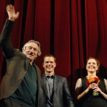 Robert de Niro, Matt Damon e Martina Gedeck alla Berlinale 2007 per presentare il film The Good Shepherd