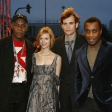 Danny Glover, Laura Regan, Rossif Sutherland e Clement Virgo alla Berlinale 2007 per presentare il film Poor Boy's Game
