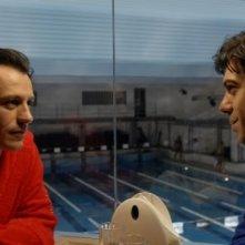 Stefano Accorsi con Pierfrancesco Favino in una scena di Saturno Contro
