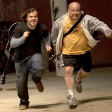 Kyle Gass e Jack Black in una scena di Tenacious D e il destino del rock
